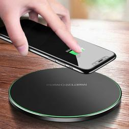 10W Metal Qi Wireless Charger Fast Charging Mat For iPhone X