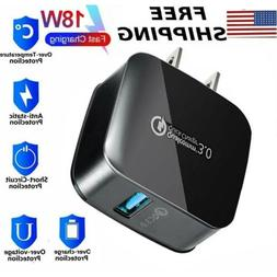 18W Fast Quick Charge QC 3.0 USB Wall Charger Power Adapter