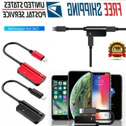 1PC Audio Aux Headphone Adapter Splitter Charging Cable For