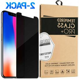 2-Pack Privacy Tempered Glass Screen Protector For iPhone 11
