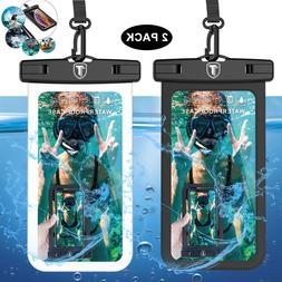 2 Pack Waterproof Floating Cell Phone Pouch Dry Bag Case Cov