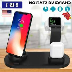 3 In 1 Wireless Charger Station Charging Dock Stand For iPho