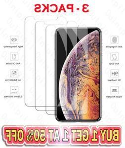 3-Pack For iPhone 11 Pro 8 7 SE Plus X Xs Max XR Tempered GL