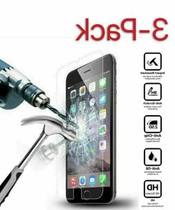 3-PACK Screen Protector Tempered Glass For iPhone 6 7 8 Plus