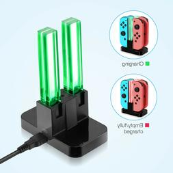 For Nintendo Switch Joy-Con 4 Port Controller Charger LED Ch