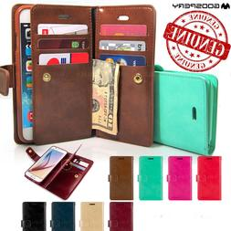 Double Flip book Leather Wallet Case Cover for iPhone 11 / 1