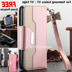 Samsung Galaxy S10 S10e S9 S8 Plus Wallet Case Leather Stand
