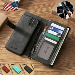 For Apple iPhone 11 Pro Max Detachable Magnetic Flip Leather