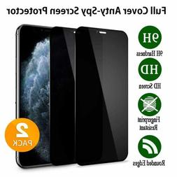 For Apple iPhone 11 Pro Max Full Cover Privacy Anti-Spy Glas