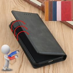 For Apple iPhone 11 Pro Max Magnetic Leather Case Wallet Car