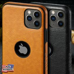 For Apple iPhone 11 Pro Max SLIM Luxury Leather Back Ultra T