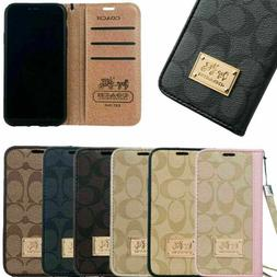 For Apple iphone 11 ProMax Samsung S10+ Leather Wallet Flip