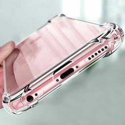 For Apple iPhone X/8/7/11 Ultra Thin Transparent Clear Shock