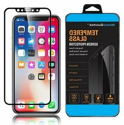 For iPhone 11 Pro X XS Max XR Full Coverage Tempered Glass S