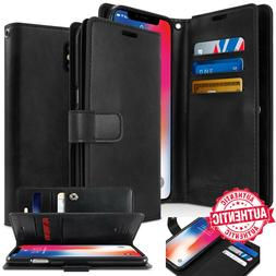 For iPhone 11 Pro MAX Xs XR 7 8 wallet leather Book Flip Car