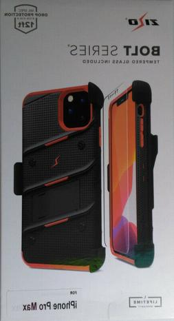 Black/Red Zizo Bolt Rugged Case, Holster, Screen Protector f