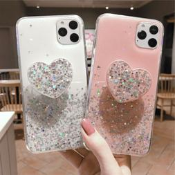 Bling Cute Heart Kickstand Slim Case Cover For iPhone 11 Pro