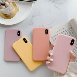 Candy Solid Color Silicone Phone Case For iPhone 11 Pro XS M