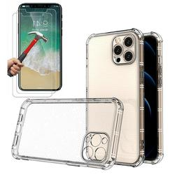 Case + 2 Screen Protector iPhone 11 Pro Max XR Case 6S 7 8 P