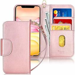 """FYY Case for iPhone 11 6.1"""",  Luxury PU Leather Wallet Case"""