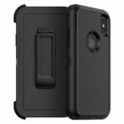 Samsung iPhone 11 12 pro 8 XR Xs Max Case with belt Clip hyb
