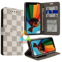 """Checker Plaid Wallet Case For Apple iPhone 11 Pro 5.8 """" Card"""