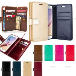 Double Flip Leather Wallet Card Book Case Cover For iPhone 1