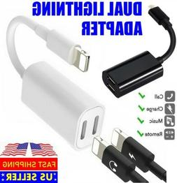 Dual Adapter For iPhone 11 Pro Max XS MAX X 7 8 Splitter Aud