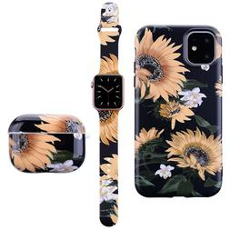 Flower Silicone Sport Band Soft TPU Case For Apple Watch Air