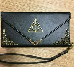 Harry Potter Deathly Hallows Wallet Leather Envelope Case Ha