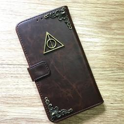 Harry Potter Deathly Hallows Wallet Leather Flip Stand Case