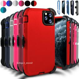For iPhone 11 11 Pro Max Shockproof Case With Belt Clip Fits