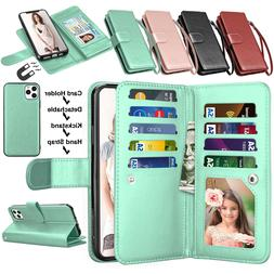 For iPhone 11,Pro,XS Max,XR Flip Leather Wallet Case w/Card