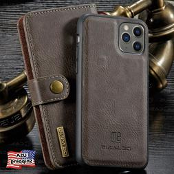 For iPhone 11/11 PRO MAX Leather Removable Wallet Magnetic F