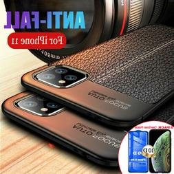iPhone 11,11 Pro XS Max Back Case Soft Ultra Thin Leather +1