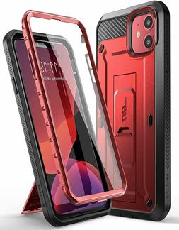 iPhone 11 6.1 Red Case Supcase UBPRO Full Body Cover Kicksta