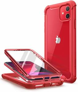 iPhone 11 Case 6.1 2019 i-Blason Ares Metallic Red Cover wit
