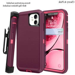 For iphone 11 Case Cover w/Screen & Clip fit Otterbox Defend