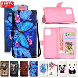 For iPhone 11 Max XR Xs SE 2020 6s 7 8 Flip Leather Wallet P