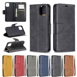 For iPhone 11 Pro Max 11 Flip Leather Card Holder Wallet Sta