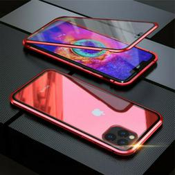 For iPhone 11 Pro Max 360° Magnetic Adsorption Case Double