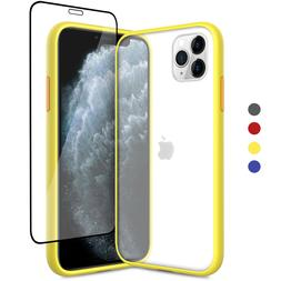 For iPhone 11 Pro Max Clear Hybrid Shockproof Case With Full