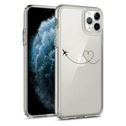 For iPhone 11 Pro Max Clear Shockproof Bumper Case Heart Lov