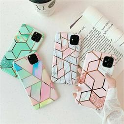For iPhone 11 Pro Max Phone Case Marble Pattern Shining Soft