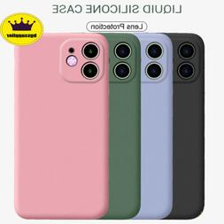 For iPhone 11 Pro Max Shockproof Case Liquid Silicone Soft L