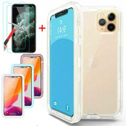 For iPhone 11 / Pro / Max Shockproof Defender Clear Case Wit