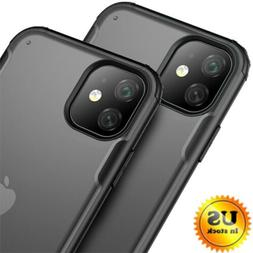 For iPhone 11 Pro Max Slim Hybrid Shockproof Matte Clear TPU