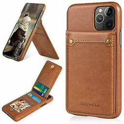IPhone 11 Pro Max Wallet Case With 4 Card Holder, PU Leather