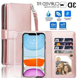 For iPhone 11 Pro Max Magnetic Leather Removable Wallet Card