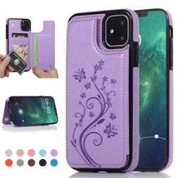 For iPhone 11 Pro Max WOMEN Leather Wallet Magnetic Card Slo